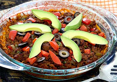 Paleo Taco Casserole with Sweet Potato Crust Recipe