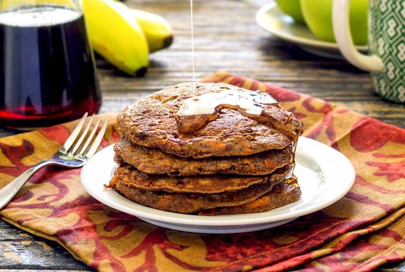 easy paleo recipe for banana-carrot pancakes