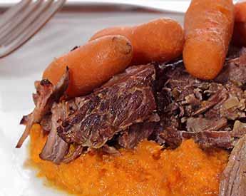 Paleo Pot Roast with Mashed Sweet Potatoes