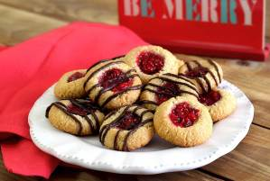 easy paleo recipe for thumbprint cookies