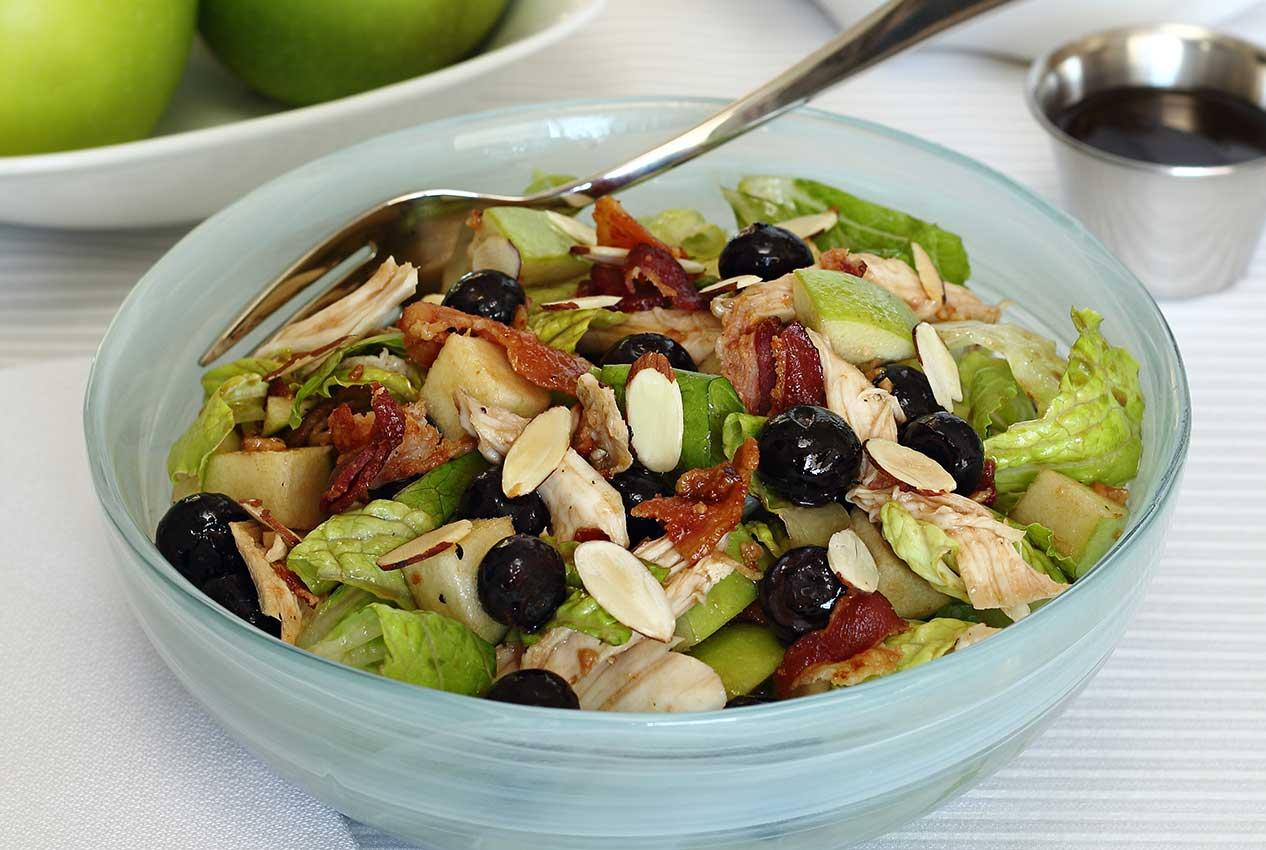 easy paleo recipe for a winter salad and maple vinaigrette