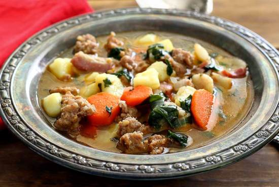 easy paleo soup recipe – Italian sausage and potato