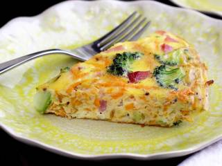 Ham, Broccoli & Sweet Potato Paleo Frittata