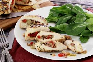 easy paleo recipe for pancetta stuffed chicken breasts