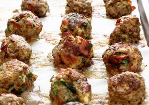 easy paleo recipe for beef and bacon paleo meatballs with barbecue sauce