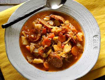 Easy Paleo Sausage & Cabbage Soup Recipe