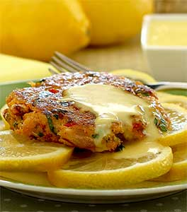 easy paleo recipe for crab cakes with lemon aioli sauce