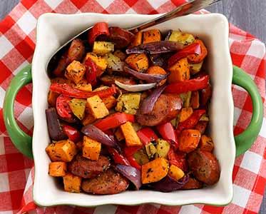 Paleo Chop & Drop Roasted Veggies & Sausage Recipe