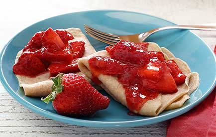 paleo diet recipe for strawberry crepes