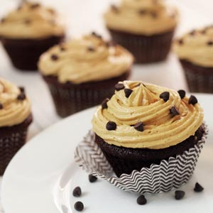 very easy paleo recipe for a cupcake treat with a paleo frosting that tastes like peanut butter