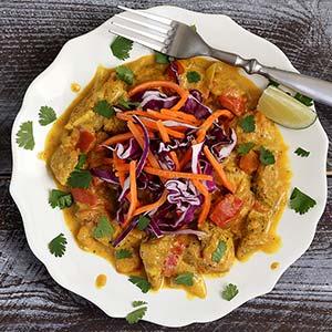 easy paleo recipe for creamy chicken curry