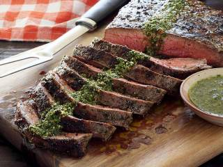 Paleo Grilled Flank Steak with Chimichurri Sauce