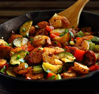 simple paleo shrimp and sausage 30-minute meal recipe