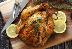 easy paleo recipe for lemon herb roasted whole chicken