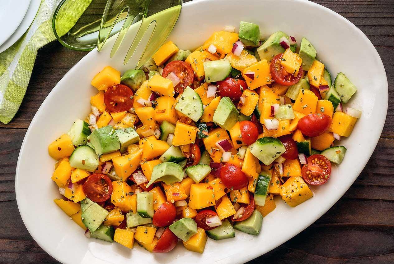 Paleo Mango Italian Summer Salad Recipe Paleo Newbie