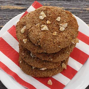easy paleo recipe for ginger snap cookies