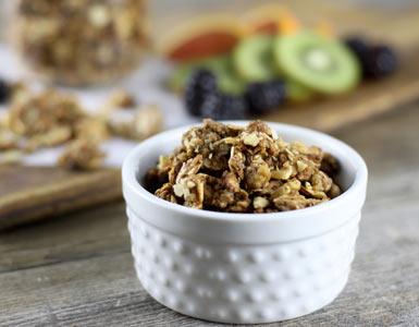 """Paleo Cinnamon Crunch Granola"" Recipe from Simply Nourished"