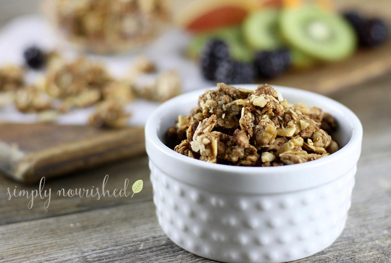 simply nourished paleo granola recipe