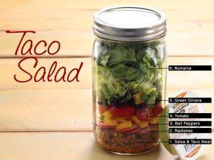 mason jar taco salad