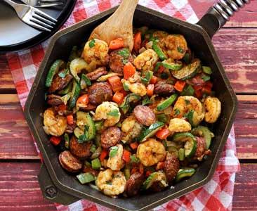 easy paleo recipe for 20 minutes shrimp and sausage