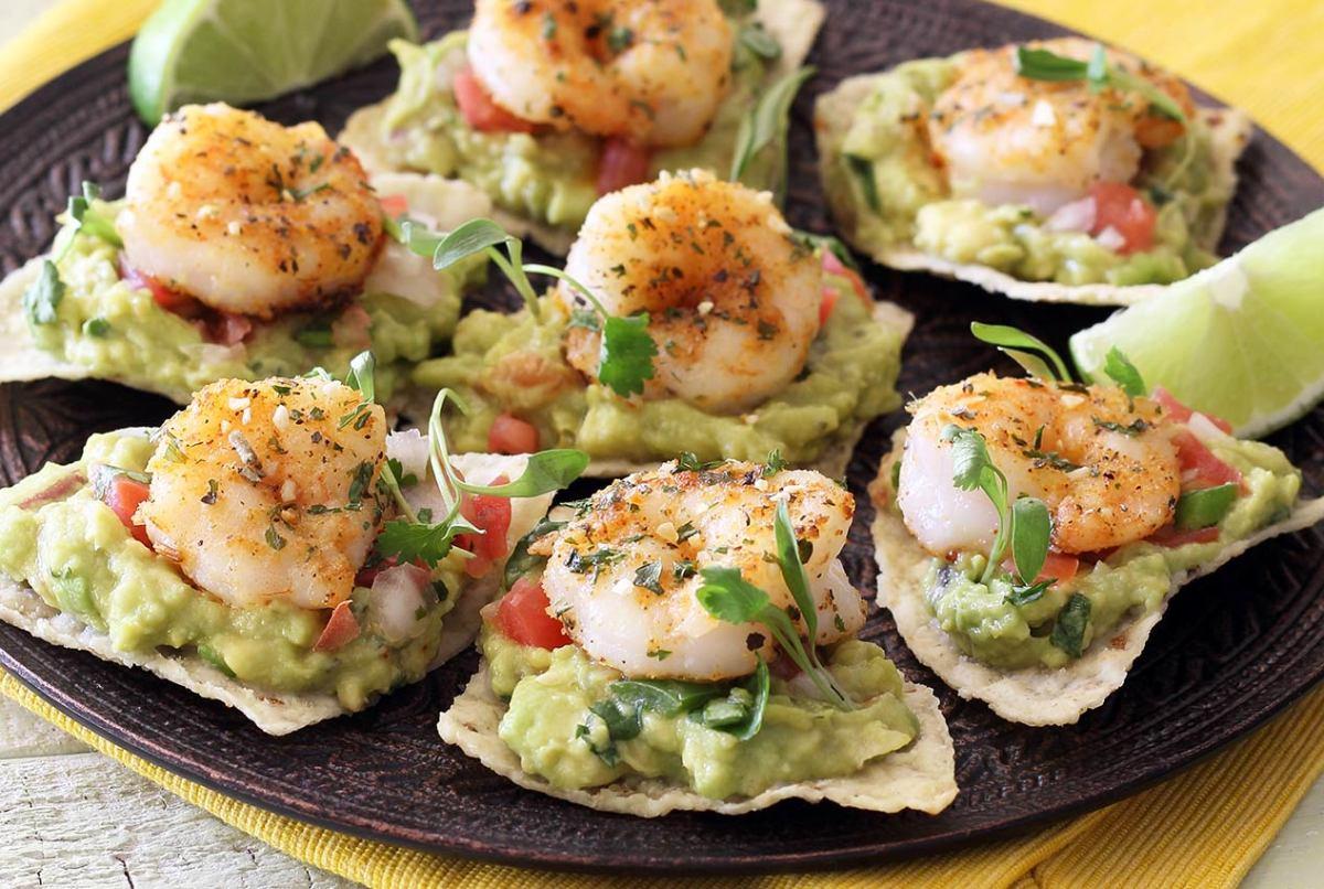easy paleo recipe for shrimp tostada bites