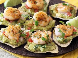 Quick Shrimp Tostada Bites
