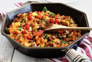 simple paleo recipe for a sausage and potato hash