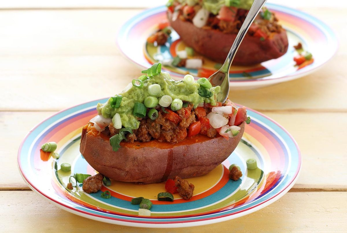 easy paleo recipe for taco filled sweet potato