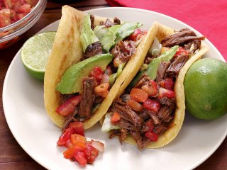 Slow-Cooked Spicy Shredded Beef Soft Tacos