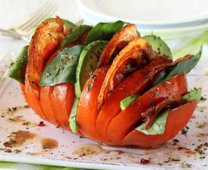 easy how to make a hasselback paleo tomato
