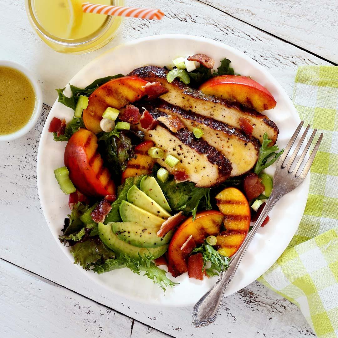 paleo newbie grilled chicken and peach salad recipe