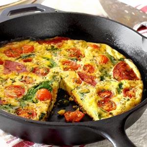 Easy Paleo Chorizo & Tomato Frittata