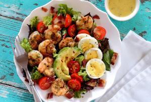 paleo shrimp cobb salad easy recipe