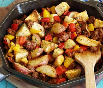 Roasted Potatoes & Spicy Chorizo Skillet Meal