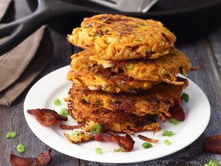Easy Paleo Sweet Potato & Bacon Breakfast Fritters