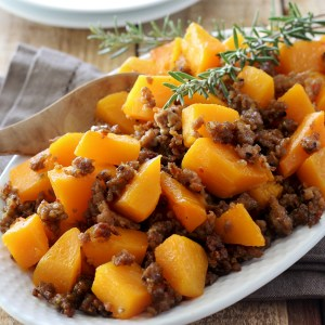 butternut squash with Italian sausage paleo recipe