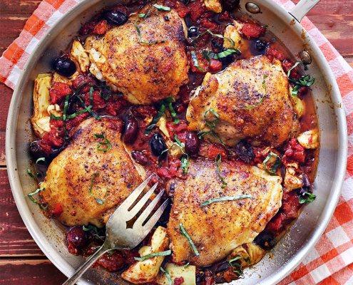 bruschetta chicken Fresh & Fast meal prep skillet recipes