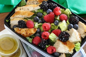 chicken berry salad in The Big Guide to Fresh & Fast Meal Preps