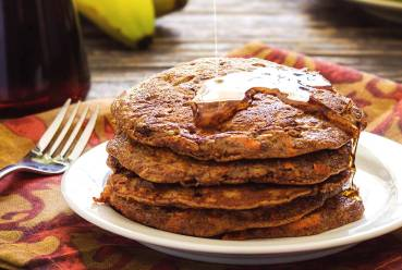 Paleo Banana and Carrot Pancakes