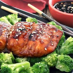 Paleo Grilled Teriyaki Salmon