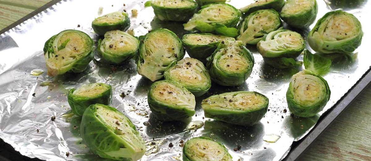 Brussels sprouts ready for roasting