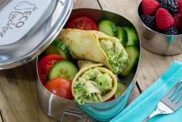 easy paleo and gluten-free recipe for a tuna wrap in eco lunchbox