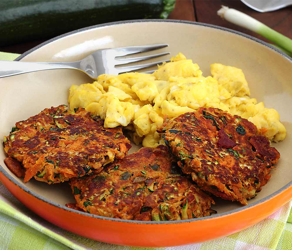 easy paleo and gluten-free recipe for breakfast fritters