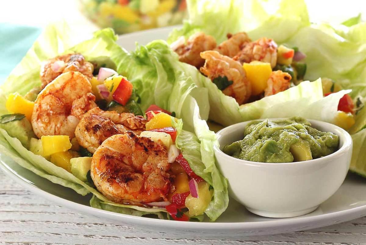 paleo recipe for grilled shrimp lettuce wraps