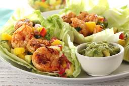 paleo recipe for grilled shrimp lettuce wraps