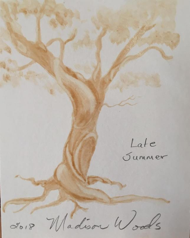 """The Twisted Tree Swatch for """"Late Summer"""", one of the colors in my Collection No. 4, Wild Ozark Paleo Paints Soul of the Ozarks series."""