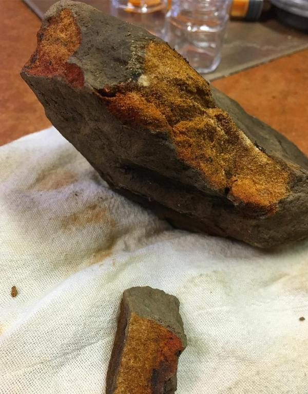 "The rock that makes Paleo Paint color ""Cromwell's Sunrise"""