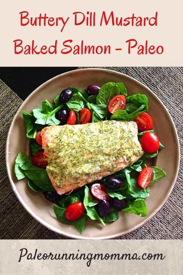 Buttery Dill Mustard Salmon {Paleo}