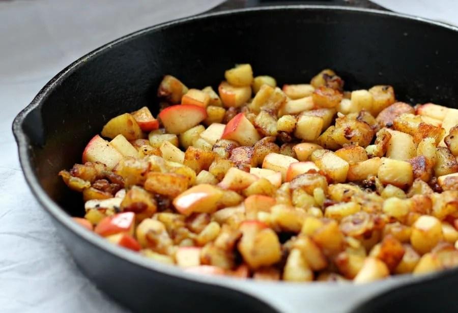 Caramelized Sweet potato and apple hash 2