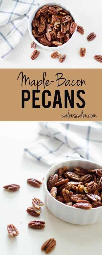 Salted Maple Bacon Pecans   paleoscaleo.com